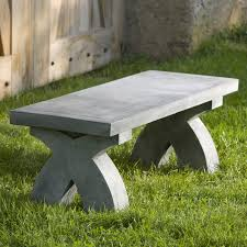 backless garden bench bench decoration