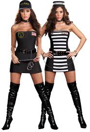 Convict Halloween Costumes Reversible Prison Guard Convict Costume Costumes