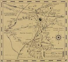 Kilgore Texas Map Old Map Of Texas Oilfields Is A Trip Through Time Houston Chronicle
