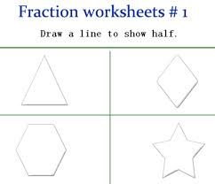 fraction worksheets for kindergarten fraction games free
