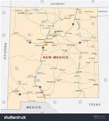 New Mexico Road Map by New Mexico Road Map Stock Vector 154800470 Shutterstock