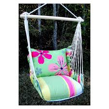 magnolia casual geranium hammock chair u0026 pillow set hayneedle
