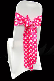 pink chair sashes high quality satin polka dot chair sashes