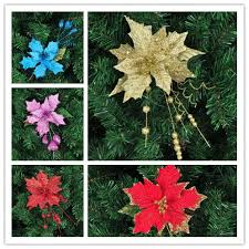 Red Gold And Purple Christmas Tree - red blue gold purple christmas flower cutting adhesive christmas