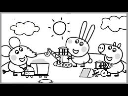 coloring pages peppa pig coloring book peppa pig video kids