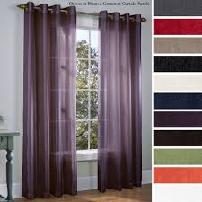 Grommet Kitchen Curtains Purple Sheer Curtains Purple Ring Top Sheer Sari Curtain Drape