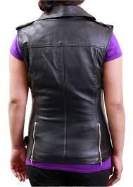 biker jacket vest women u0027s black biker leather jacket vest style and decor