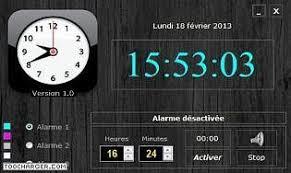 afficher l heure sur le bureau des logiciels d horloge pour pc gratuits