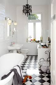 bathroom attractive cool vintage black and white tile bathroom