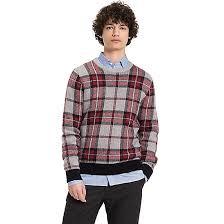 plaid sweater wool plaid sweater hilfiger