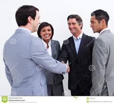 business greeting happy business closing a deal stock image image 12191225