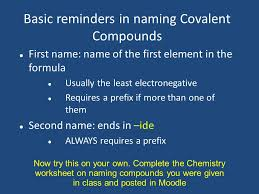 naming ions compounds and molecules naming ions objectives