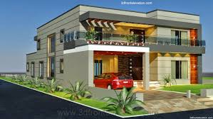 3d front elevation com 1 kanal old style house convert in modern