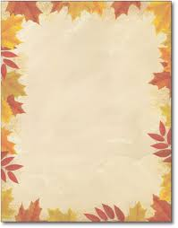 fall border autumn leaves border stationery sheets office cliparts