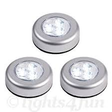 battery operated stick on lights set of 3 round led battery operated stick on under cabinet cupboard