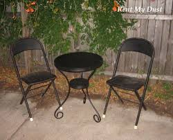 Black Metal Bistro Chairs Black Metal Bistro Table With 2 Metal Chairs Rent My Dust