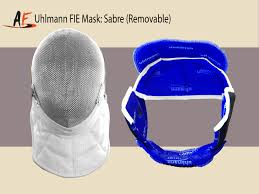 Removable by Uhlmann Fie Mask Sabre Removable Absolute Fencing Gear