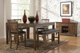 Dining Room Sets With Benches Dining Room Cozy Counter Height Dinette Sets For Your Dining