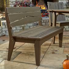 uwharrie hourglass armless patio bench with back hayneedle