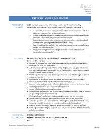 esthetician resume exle therapy resume sle therapist sles cover letter