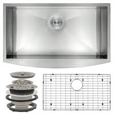 Stainless Steel Farm Sink Kraus Farmhouse Apron Front Stainless Steel 33 In Single Basin