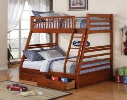bedroom twin over futon oak bunk bed with drawers contemporary