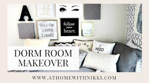 Best Tv For College Dorm Dorm Room Makeover 2017 College Dorm Room Tour U0026 Prep Youtube