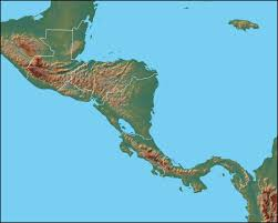 map central physical map of central america central america political map