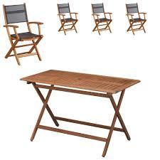 chaises pliables set marine hanoi 1 table 70x130 cm 4 chaises pliables jysk