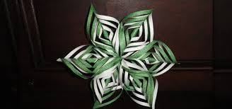 Green Decoration For Christmas by How To Craft An Intricate Lacy Paper Snowflake Decoration For