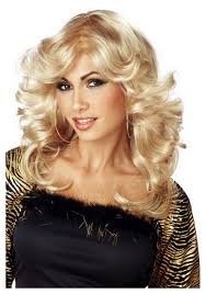 halloween costume blonde wig disco mama wig 70s halloween disco costume wigs