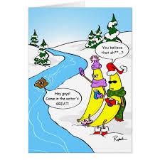 funny banana christmas card custom holiday cards zazzle com