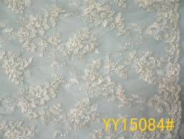 wedding dress fabric embroidered corded lace fabric bridal lace fabric yy15084 for