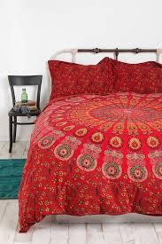 reversible duvet cover indian mandala block print cotton quilt