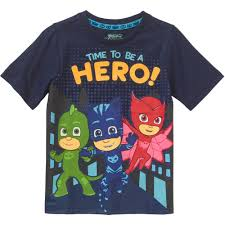 pj masks toddler boys u0027 short sleeve hero t shirt walmart com