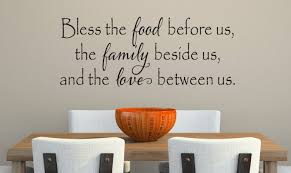 bless food before us wall decal kitchen vinyl decal