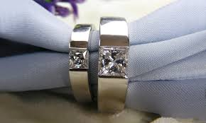 Couple Wedding Rings by Aliexpress Com Buy Romantic 1 5ct Couple Wedding Rings Him U0026 Her