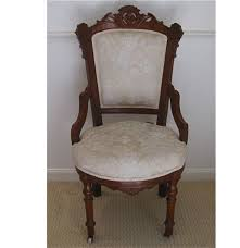 Victorian Upholstered Chair Antique Upholstered Eastlake Chair Ebth