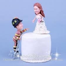 firefighter cake toppers firefighter climbing ladder to save cake toppers