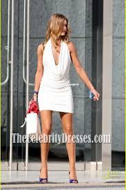 rosie huntington whiteley short white cocktail dress movie