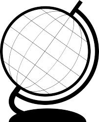 globe clipart globe outline