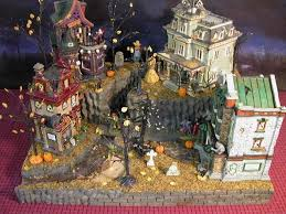 miniature halloween village galleries showcase displays