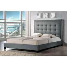 Upholstered Platform Bed King Baxton Studio Upholstered Platform Bed Hayneedle