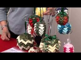 how to folded fabric pinecone ornaments it s