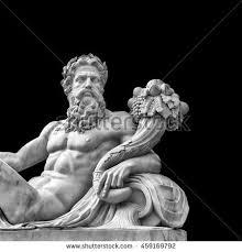 marble statue greek god zeus cornucopia stock photo 459169792