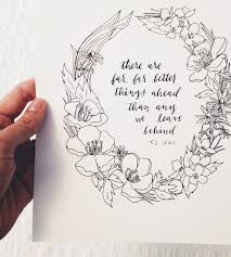 change quote cs lewis far better things quote print c s lewis tattoos pinterest