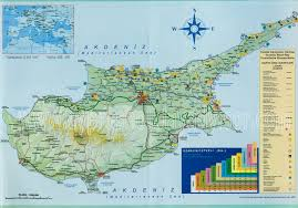 Map Of Cyprus Northern Cyprus Map Road Map Of North Cyprus Tourist City Maps