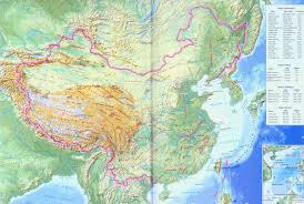 A Map Of China by China Relief Map Maps Of China Topography China Map Travel