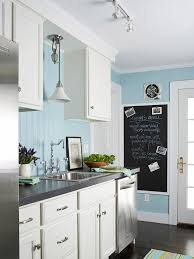 White And Blue Kitchen Cabinets Stock Kitchen Cabinets