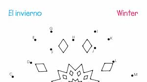 spanish u0026 english dot to dots a z winter printable activities